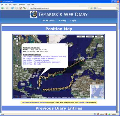 Blog with GPS tracking
